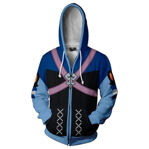 OtakuForm-OP Cosplay Jacket Zip Up Hoodie / US XS (Asian S) Kingdom Hearts Hoodie - Aqua Jacket