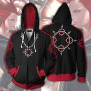 OtakuForm-OP Cosplay Jacket Zip Up Hoodie / XS Kingdom Hearts Hoodie - Axel Jacket
