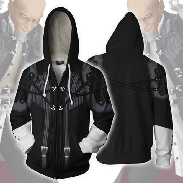 OtakuForm-OP Cosplay Jacket Zip Up Hoodie / XS Kingdom Hearts Hoodies - Master Xehanort Zip Up Hoodie Jacket