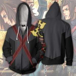 OtakuForm-OP Cosplay Jacket Zip Up Hoodie / US XS (Asian S) Kingdom Hearts Terra Hoodie Jacket