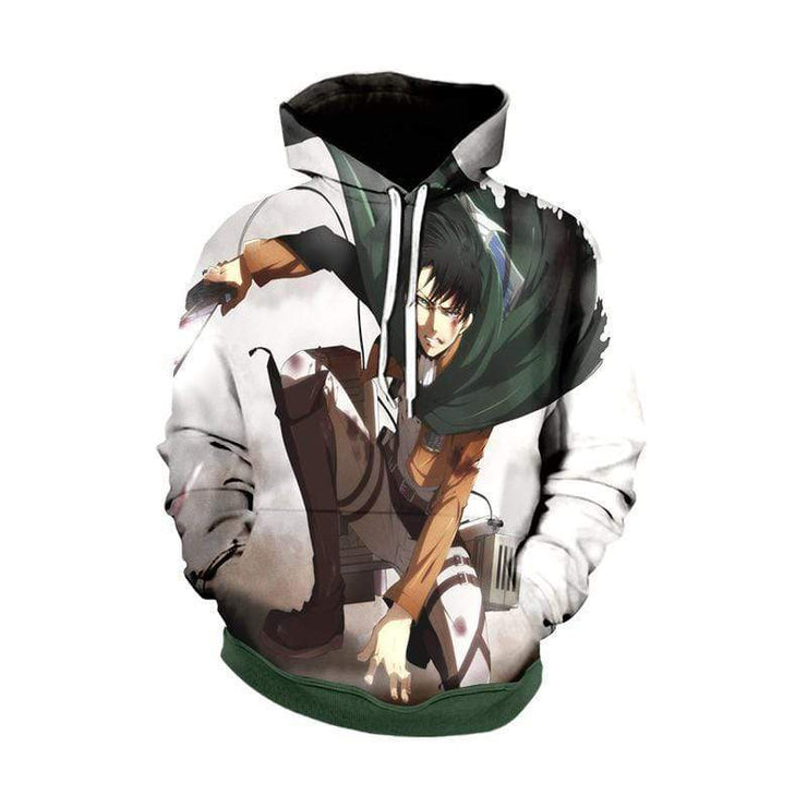 Attack On Titan Zip Up Hoodie XXS / Pull Over Hoodie Levi Ackerman Lands Hoodie - Attack on Titan Zip Up Hoodie Jacket