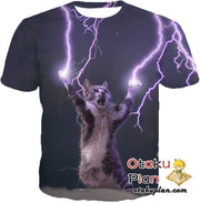 OtakuForm-OP T-Shirt T-Shirt / XXS Lightning Cat T-Shirt