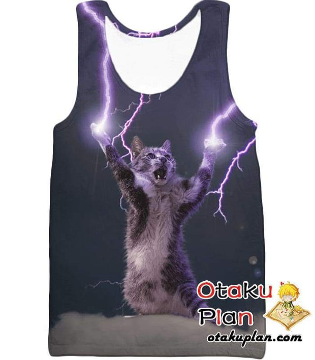 OtakuForm-OP T-Shirt Tank Top / XXS Lightning Cat T-Shirt