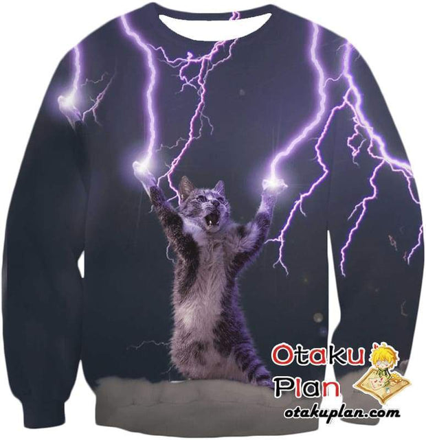 OtakuForm-OP T-Shirt Sweatshirt / XXS Lightning Cat T-Shirt