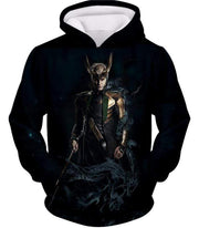 OtakuForm-OP Sweatshirt Hoodie / XXS Loki Odinson the Asgardian Cool Black Action Sweatshirt