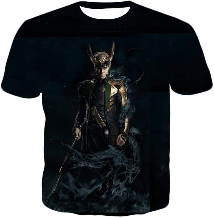 OtakuForm-OP Sweatshirt T-Shirt / XXS Loki Odinson the Asgardian Cool Black Action Sweatshirt