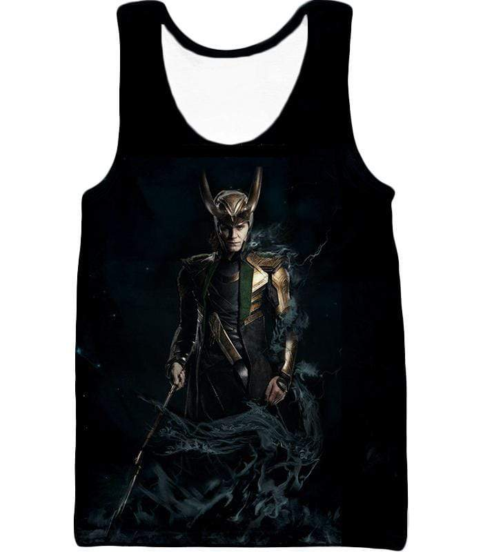 OtakuForm-OP Sweatshirt Tank Top / XXS Loki Odinson the Asgardian Cool Black Action Sweatshirt