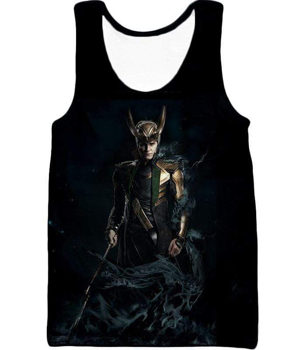 OtakuForm-OP Zip Up Hoodie Tank Top / XXS Loki Odinson the Asgardian Cool Black Action Zip Up Hoodie