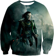OtakuForm-OP Sweatshirt Sweatshirt / XXS Loki Odinson the War Criminal Avengers Promo Action Sweatshirt