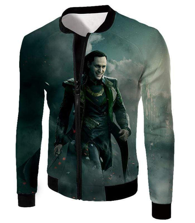 OtakuForm-OP Sweatshirt Jacket / XXS Loki Odinson the War Criminal Avengers Promo Action Sweatshirt