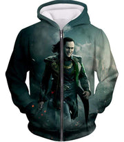 OtakuForm-OP Zip Up Hoodie Zip Up Hoodie / XXS Loki Odinson the War Criminal Avengers Promo Action Zip Up Hoodie