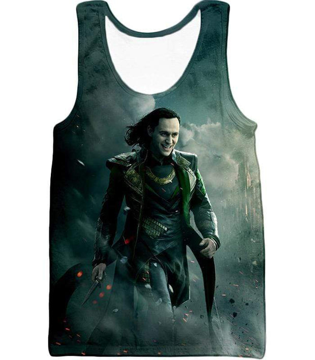 OtakuForm-OP Zip Up Hoodie Tank Top / XXS Loki Odinson the War Criminal Avengers Promo Action Zip Up Hoodie
