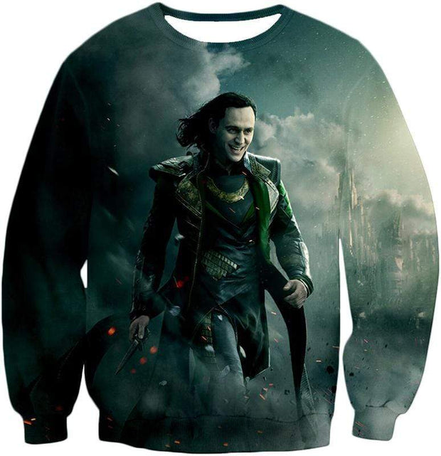 OtakuForm-OP Zip Up Hoodie Sweatshirt / XXS Loki Odinson the War Criminal Avengers Promo Action Zip Up Hoodie