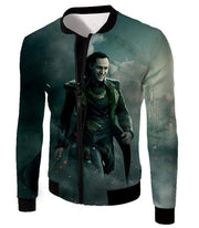 OtakuForm-OP Zip Up Hoodie Jacket / XXS Loki Odinson the War Criminal Avengers Promo Action Zip Up Hoodie