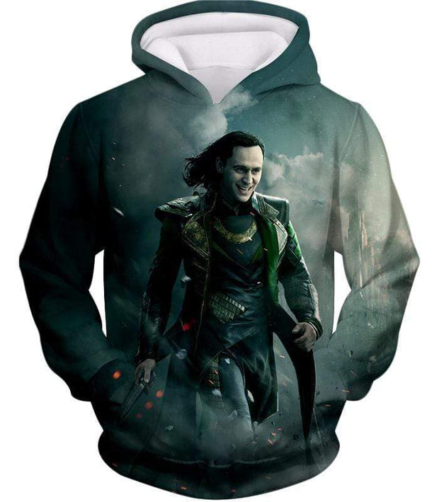 OtakuForm-OP Zip Up Hoodie Hoodie / XXS Loki Odinson the War Criminal Avengers Promo Action Zip Up Hoodie