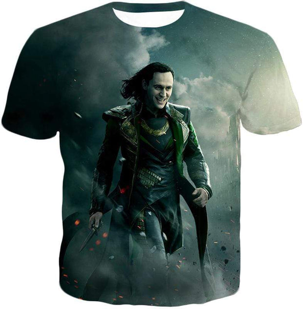 OtakuForm-OP Zip Up Hoodie T-Shirt / XXS Loki Odinson the War Criminal Avengers Promo Action Zip Up Hoodie