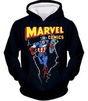 OtakuForm-OP T-Shirt Hoodie / XXS Marvel Comics Promo Ultimate Hero Captain America Black Action T-Shirt