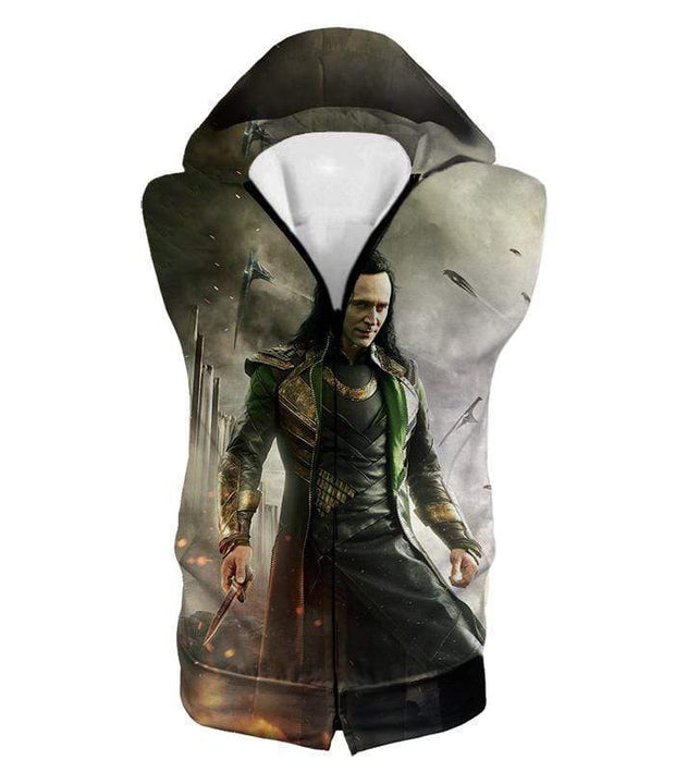 OtakuForm-OP Hoodie Hooded Tank Top / XXS Marvels Mind Controlling Villain Loki Graphic Action Hoodie