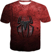 OtakuForm-OP T-Shirt T-Shirt / XXS Marvels Ultimate Spiderman Logo Cool Scratched Red T-Shirt
