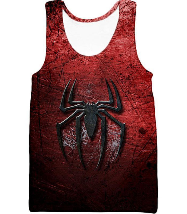 OtakuForm-OP T-Shirt Tank Top / XXS Marvels Ultimate Spiderman Logo Cool Scratched Red T-Shirt