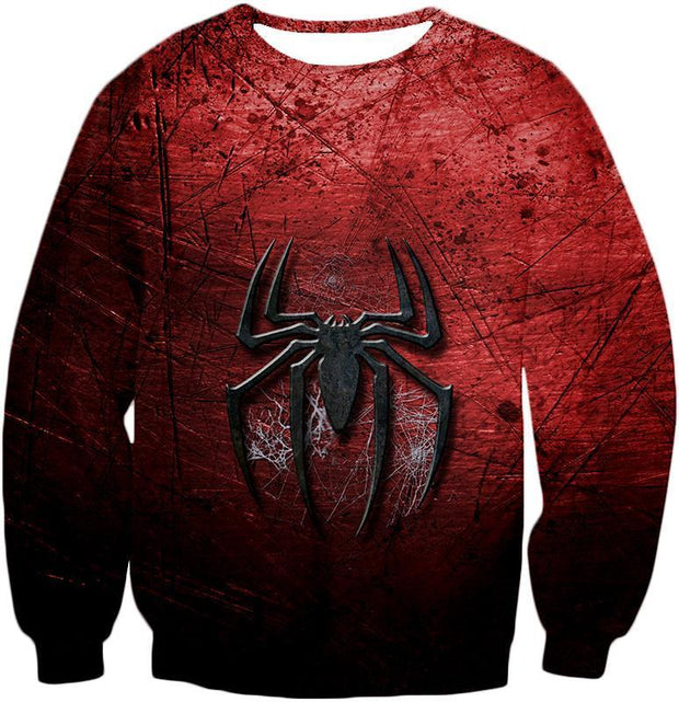 OtakuForm-OP T-Shirt Sweatshirt / XXS Marvels Ultimate Spiderman Logo Cool Scratched Red T-Shirt
