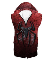 OtakuForm-OP T-Shirt Hooded Tank Top / XXS Marvels Ultimate Spiderman Logo Cool Scratched Red T-Shirt