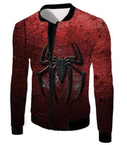 OtakuForm-OP T-Shirt Jacket / XXS Marvels Ultimate Spiderman Logo Cool Scratched Red T-Shirt