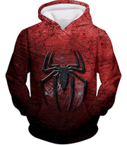 OtakuForm-OP T-Shirt Hoodie / XXS Marvels Ultimate Spiderman Logo Cool Scratched Red T-Shirt