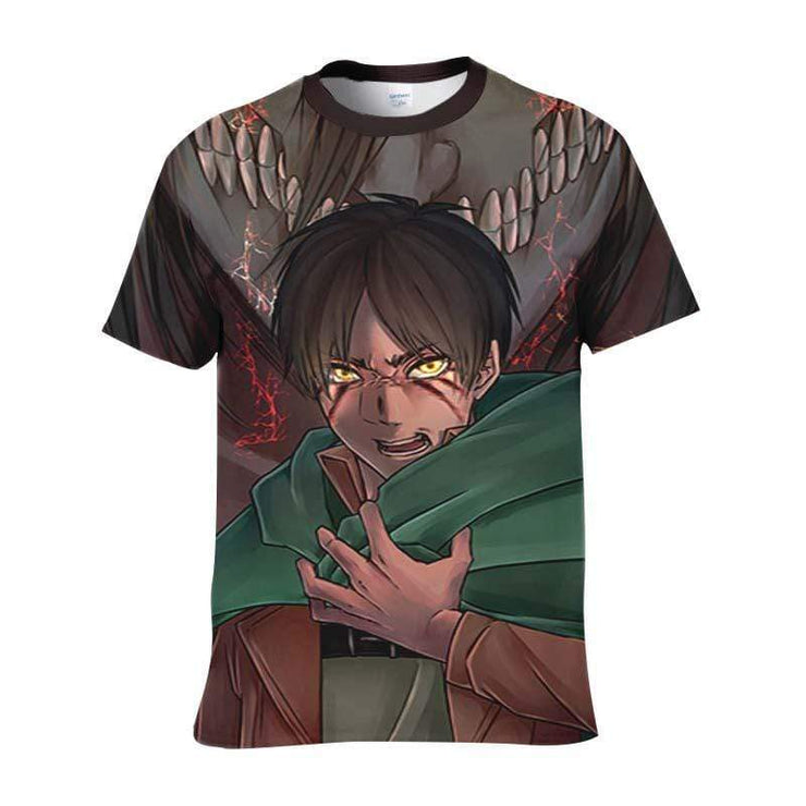 Attack On Titan T-Shirt S Mikasa Scout Regiment Uniform T-Shirt - Attack On Titan 3D T-Shirt