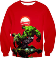 OtakuForm-OP T-Shirt Sweatshirt / XXS Most Powerful Hero Hulk Red T-Shirt