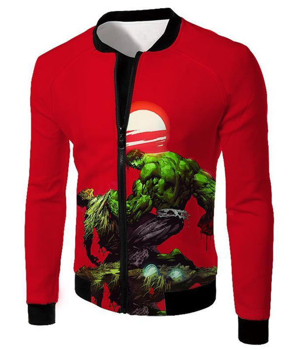 OtakuForm-OP T-Shirt Jacket / XXS Most Powerful Hero Hulk Red T-Shirt
