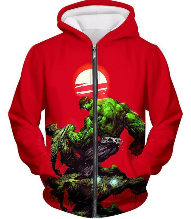 OtakuForm-OP T-Shirt Zip Up Hoodie / XXS Most Powerful Hero Hulk Red T-Shirt