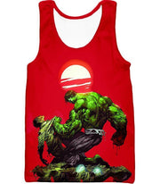OtakuForm-OP T-Shirt Tank Top / XXS Most Powerful Hero Hulk Red T-Shirt