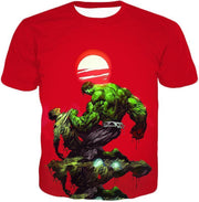 OtakuForm-OP T-Shirt T-Shirt / XXS Most Powerful Hero Hulk Red T-Shirt