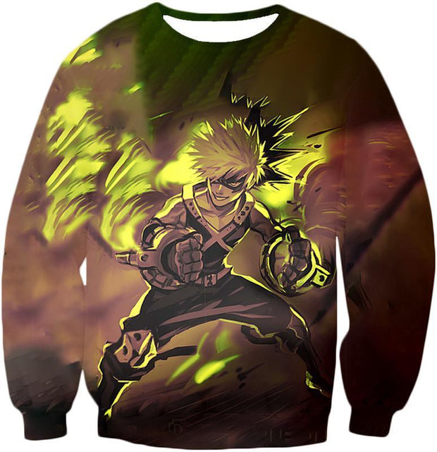 OtakuForm-OP Zip Up Hoodie Sweatshirt / XXS My Hero Academia Explosive Hero Katsuki Bakugo Action Zip Up Hoodie - Anime Hoodie