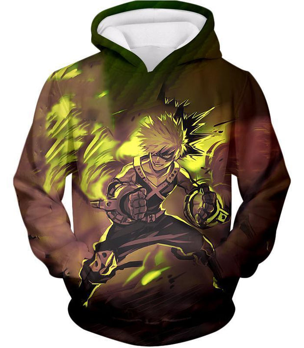 OtakuForm-OP Zip Up Hoodie Hoodie / XXS My Hero Academia Explosive Hero Katsuki Bakugo Action Zip Up Hoodie - Anime Hoodie