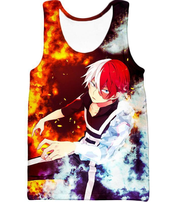 My Hero Academia Hoodie - My Hero Academia Super Anime Hero Shoto Todoroki Quirk Half Cold Half Hot Action Hoodie