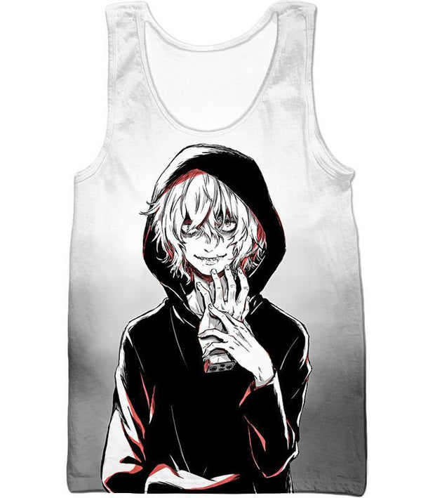 OtakuForm-OP Hoodie Tank Top / XXS My Hero Academia Hoodie - My Hero Academia Super Crazy League of Villains Leader Shigaraki Tomura Cool Promo White Hoodie