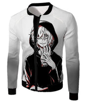 OtakuForm-OP Hoodie Jacket / XXS My Hero Academia Hoodie - My Hero Academia Super Crazy League of Villains Leader Shigaraki Tomura Cool Promo White Hoodie