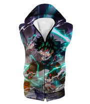 OtakuForm-OP Hoodie Hooded Tank Top / XXS My Hero Academia Hoodie - My Hero Academia Ultimate Hero Izuki Midoriya aka Deku Super Action Anime Hoodie