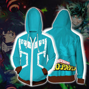OtakuForm-OP Cosplay Jacket Zip Up Hoodie / US XS (Asian S) My Hero Academia Izuki Midoriya Hoodie Jacket