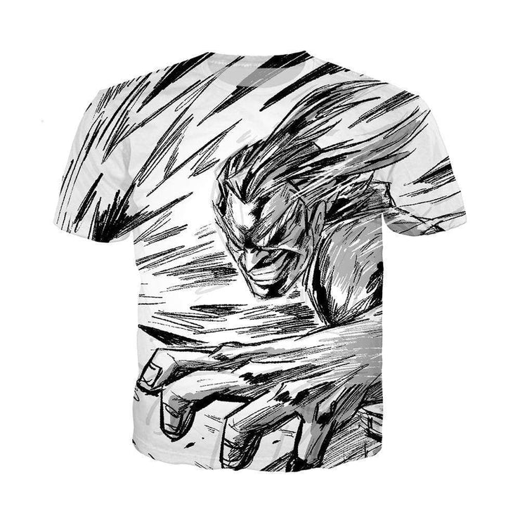 Anime Merchandise T-Shirt M My Hero Academia Shirt - All MIght Attack T-Shirt