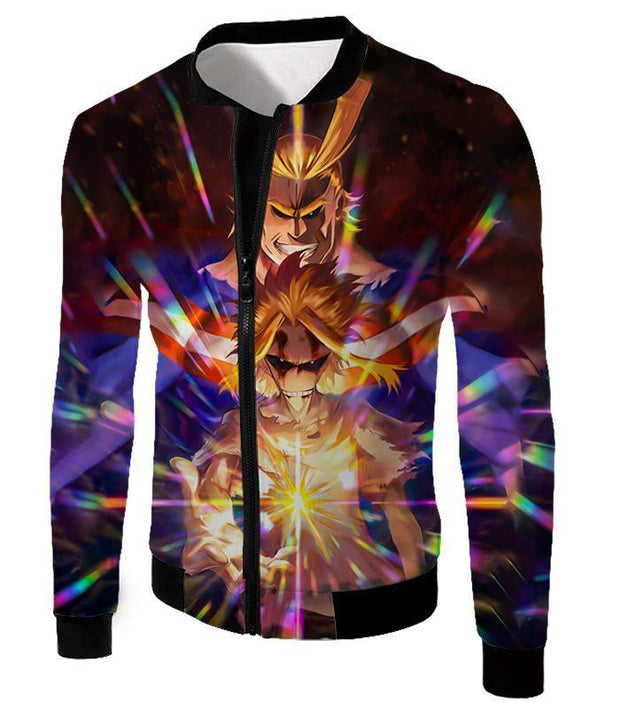 OtakuForm-OP Sweatshirt Jacket / XXS My Hero Academia Sweatshirt - My Hero Academia Number One Hero All Might One for All Holder Cool Anime Graphic Sweatshirt