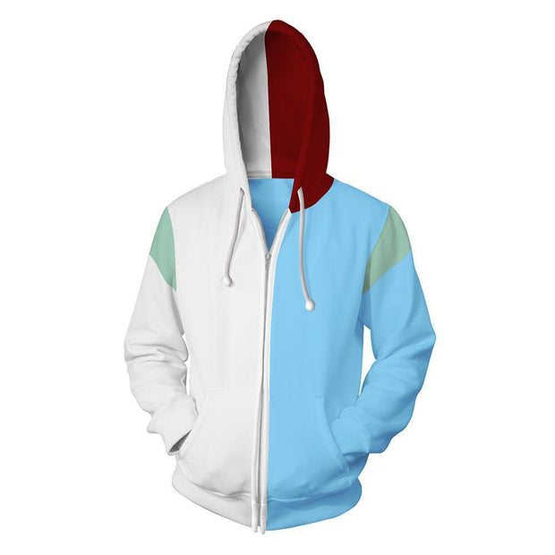 OtakuForm-OP Cosplay Jacket Zip Up Hoodie / US XS (Asian S) My Hero Academia Todoroki Shoto Hoodie Jacket