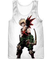 OtakuForm-OP Zip Up Hoodie Tank Top / XXS My Hero Academia White Katsuki Bakugo My Hero Academia Zip Up Hoodie - Anime Hoodie
