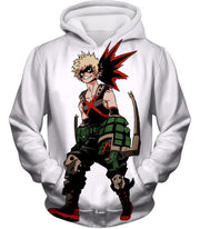 OtakuForm-OP Zip Up Hoodie Hoodie / XXS My Hero Academia White Katsuki Bakugo My Hero Academia Zip Up Hoodie - Anime Hoodie