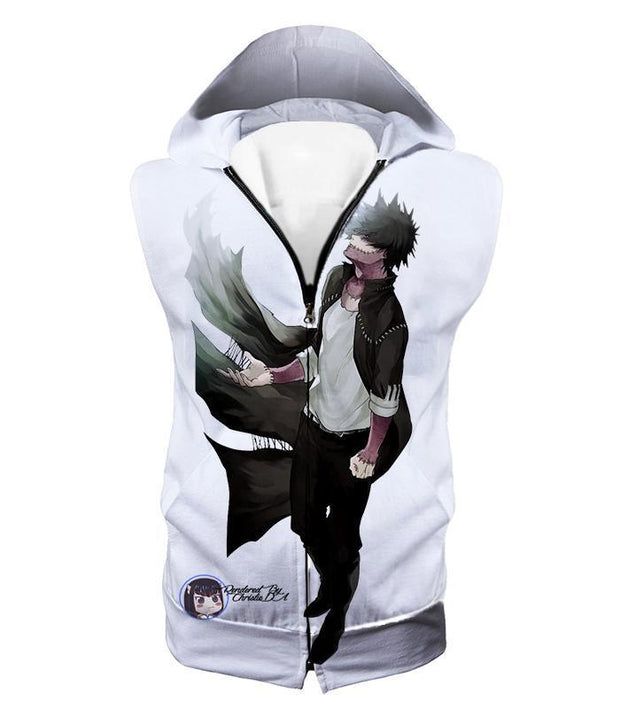 OtakuForm-OP Sweatshirt Hooded Tank Top / XXS My Hero Academia White My Hero Academia Villain Dabi Sweatshirt - Anime Sweatshirt