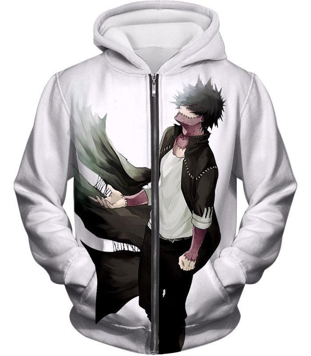 OtakuForm-OP Sweatshirt Zip Up Hoodie / XXS My Hero Academia White My Hero Academia Villain Dabi Sweatshirt - Anime Sweatshirt