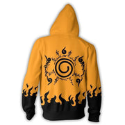 OtakuForm-OM Hoodies S / Yellow Naruto Hoodies - Shippuden Naruto Seal Zip Up Hoodie