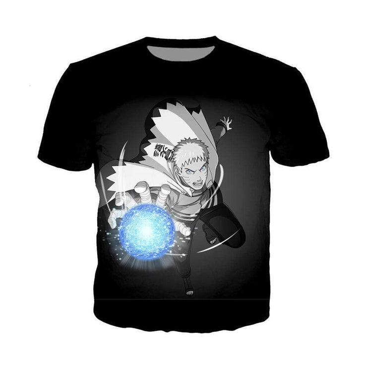 Anime Merchandise T-Shirt M Naruto Shirt  - Naruto using Rasengan T-Shirt